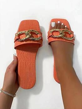 Flat Slide Slippers Plus Size Women Shoes Summer