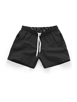 Leisure Beach Pulling Ropes Short Pants For Men