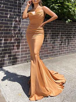 Latest Style Floor Length Sheath Elegant Evening Dresses