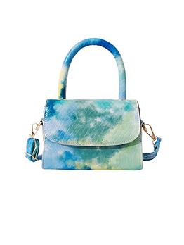 Ladies Tie Dye Hasp One Shoulder Bag