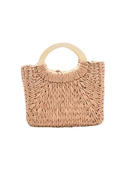 Simple Design Beach Women Straw Hand Bag