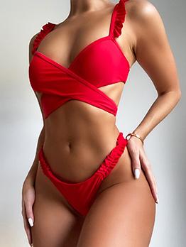 New Pure Two Piece Bikini Summer Sets