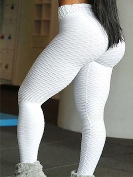High Waist Solid Fitness Skinny Yoga Pants
