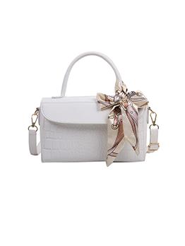 Stylish Silk Scarf Solid Shoulder Bags