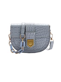 Modern Crocodile Print Lock Shoulder Bags