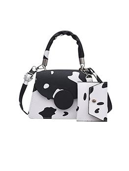 Adorable Cows Print Hasp Shoulder Bags