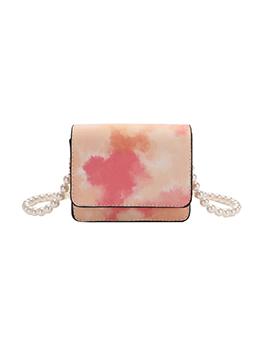 Fashionable Tie Dye Square Pearl-Belt Small Crossbody Bag