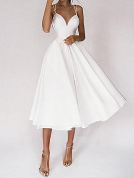 Elegant Hollow Out Solid Maxi Evening Dresses