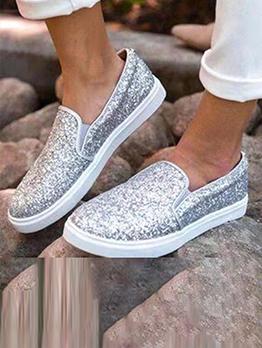 Rhinestone Casual Solid Fashion Slip On Shoes