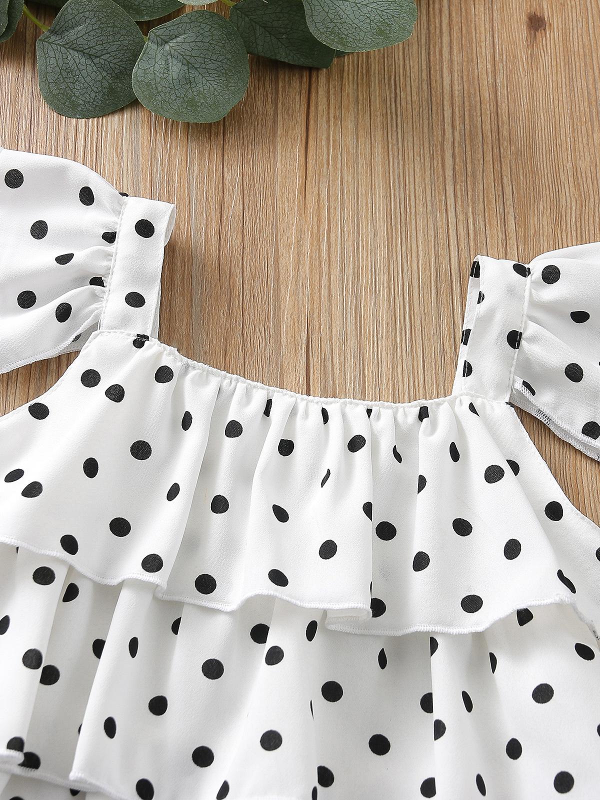 Cute Ruffle Dot Top With Short Pants