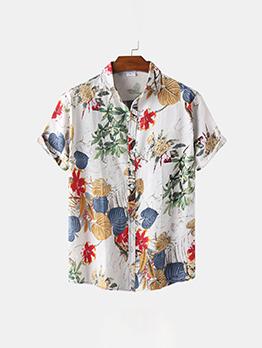 Fashion Turndown Collar Button Up Shirt