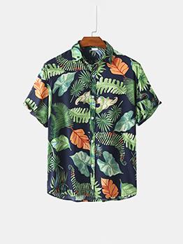 Beach Loose Short Sleeve Shirt Summer