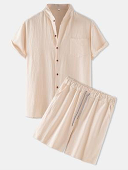Loose Fitting Pulling Ropes Solid 2 Piece Outfit