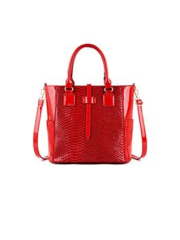 Fashion Snake Printed Zipper Women Tote Bag