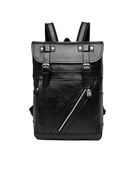 Vintage Travel Hasp Zipper Men Backpack