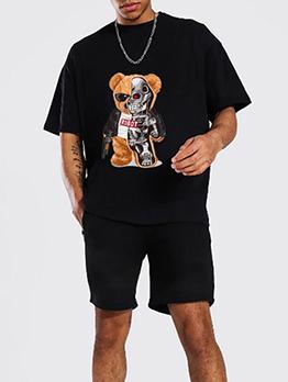 Funny Print Plus Size cotton Workout Clothes