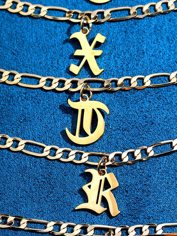 Titanium Steel Letter Anklet Fashion Simple