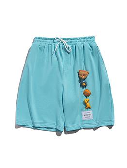 Adorable Cute Bear Pulling Ropes Short Pants