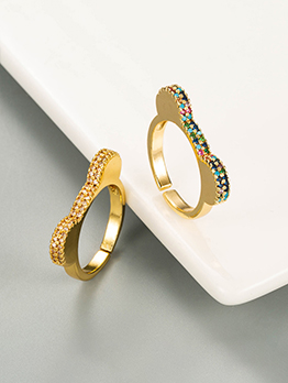 Cute Girl Colourful Zircon Ring For Lovers