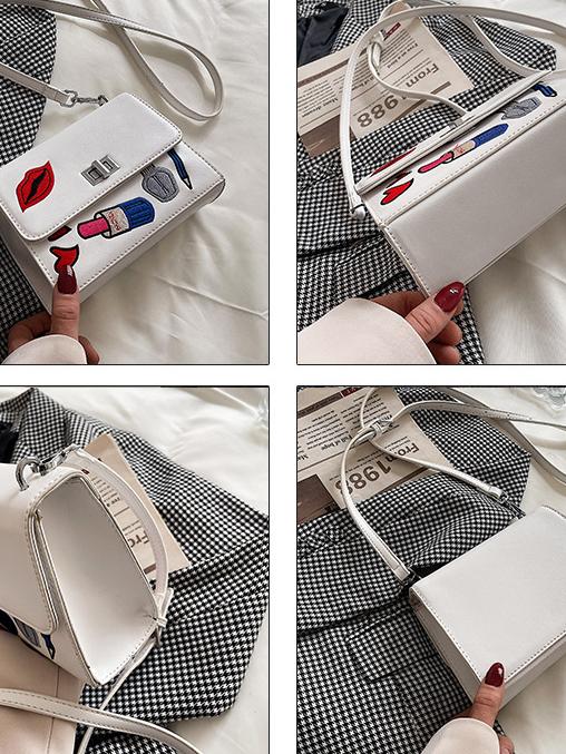 Fashion Embroidery One Shoulder Bag