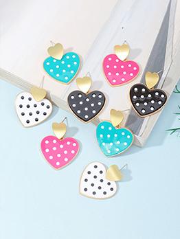 Vintage Style Sweet Heart Shape Earrings