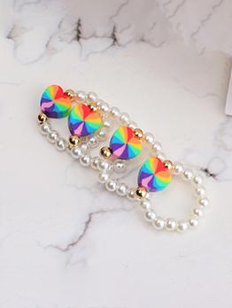 Resin Faux-Pearl Sweet Cute Heart Ring