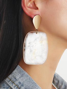 Chic Geometric Tie Dye Simple Earring