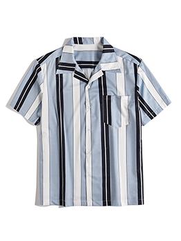 Street Print Loose Short Sleeve Shirt