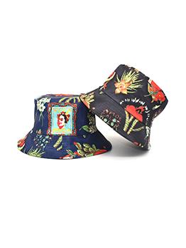 Fashion Flower Printed Cotton Bucket Hat