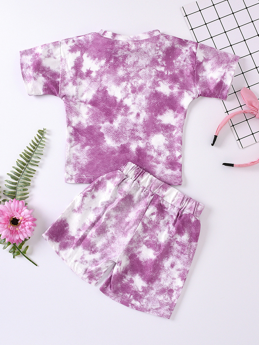 Tie Dye Print Comfy Kids Clothing Two Pieces Sets