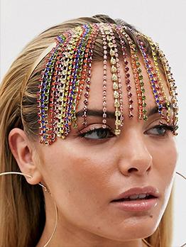 Fashion Multicolored Tassel Rhinestone Hair Accessories