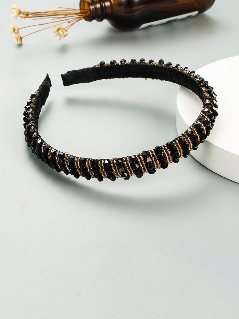 Simple Beading Rhinestone Hair Hoop