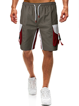Fashion Contrast Color Short Pants For Men