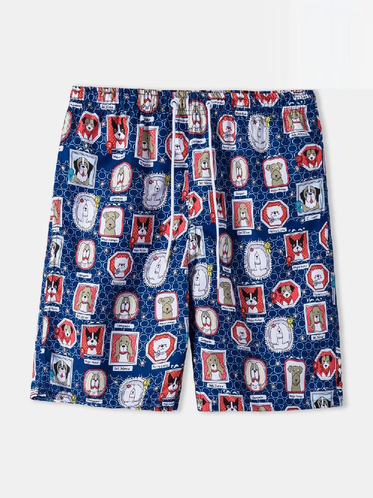 Loose Letter Half Pants For Men