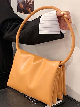 Korean Style Simple Solid Casual Shoulder Bag