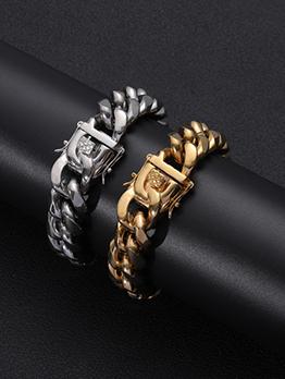 Hip Hop Solid Bracelets For Women