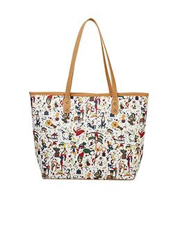Korean Style Printed Large Capacity Tote Bag