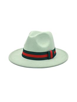 Fashion Casual Vintage Wide Brim Fedora Hat Women