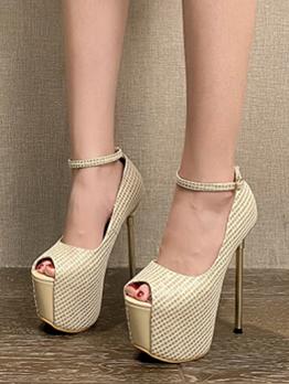 Sexy Peep Toe High Heels Womens Platform Shoes