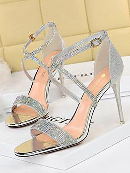 Sexy Stiletto High Heels Rhinestone Ladies Sandal