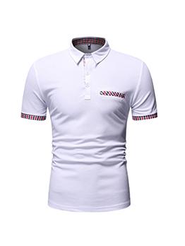Summer Plaid Patchwork Cotton POLO Shirt