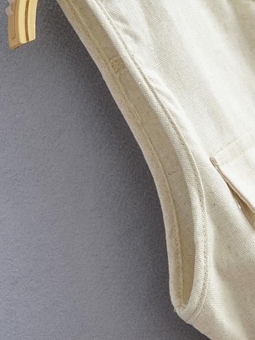 Chic Crew Neck Tie-Wrap Solid Sleeveless Romper Shorts