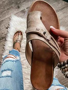 Round Toe Solid Ladies Slippers