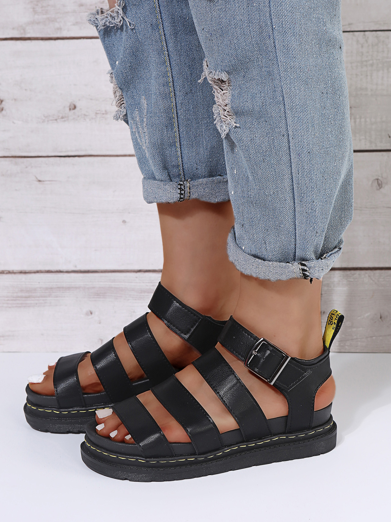 Hollow Out Round Toe Sandals For Girls