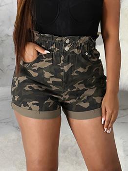 Sexy Camouflage High Waist Short Pants