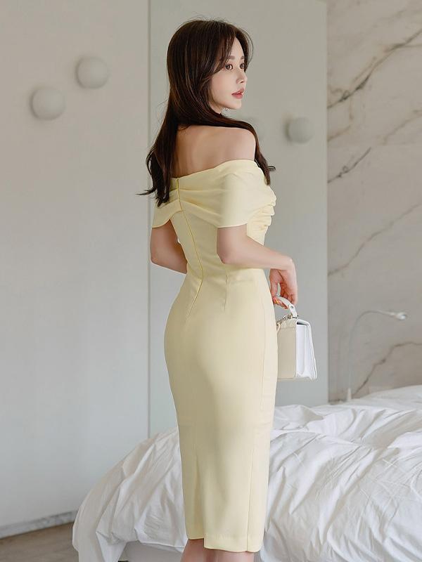 Summer Slip Off Shoulder Short Sleeve Dresses