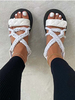 New Trend Hollow Out Ladies Slide Slippers