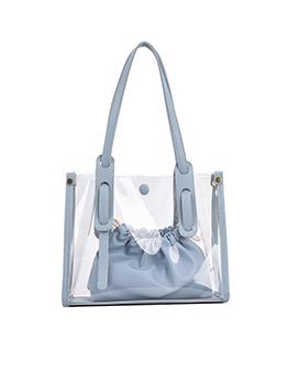 Solid Korean Style Simple One Shoulder Tote Bags
