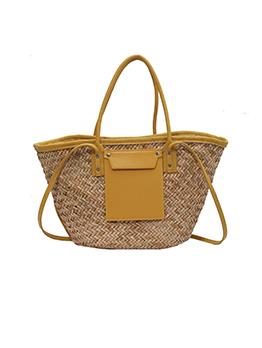 Latest Style Large Capacity Fashion Straw Tote Bag
