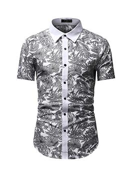 Business Button Up Short Sleeve Men Shirts
